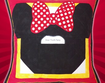 Disney / Minnie Mouse Tooth Fairy Pillow Quilted Sham