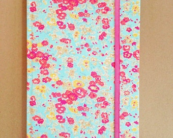 Liberty Covered Hardback Notebook Tatum A Turquoise UNLINED