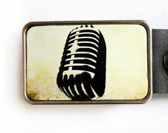 Vintage Microphone Musician Radio DJ