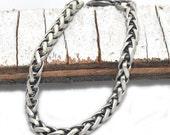 Men's Chain Bracelet – Brushed Steel