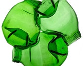 Recycled Triple Bottle LOGO dish - green