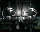 Set Of 2 Penn State NCAA Wine Glasses