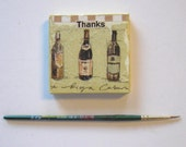 BTGO, Thank You Art Magnet, Miniature Mixed Media Painting, Mini Canvas, Original Miniature painting, Home Decor
