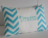 Dream Pillow Word or Name Pillow Cover 12x20 Room Decor, Teen Decor, Nursery Decor, Shower Gift CHOOSE COLOR