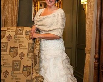 Wedding accessories, bridal shawl, wedding shawl, bridal accessories, knitting shawl, handmade shawl, handmade flower, weddings shawl, gift