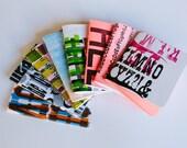 Assorted Blank Letterpress Notebooks- 3 pack