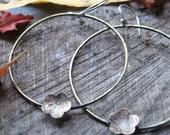 joy - rustic brass earrings