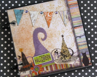 Halloween Premade Scrapbook Album