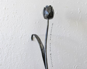 Tulip, Iron anniversary gift for her, gift for her, iron flower, spring flower, personalized gift, metal flower, 6th anniversary gift