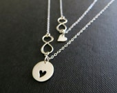 Mother infinity necklace, gift for mom, ss