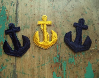 3 Vintage Anchor Patches