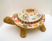 Mosaic Turtle for Garden or Home   Colorful Fall Colors