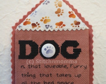 14011 Modern Dictionary: Dog Cross Stitch PDF Pattern - DIGITAL DOWNLOAD
