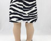 "18"" Girl Doll Clothes Zebra Print Black and White Corduroy Straight Mini Skirt Girls Toy"