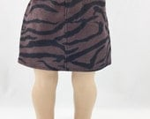 """18"""" Doll Clothes Tiger Zebra Black and Chocolate Brown Corduroy Straight Mini Skirt Girls Toy"""