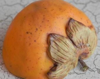 1 half porcelain persimmon with stem