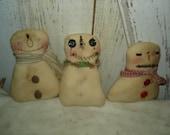 Snowpals Snowmen Bowl Fillers, Cubby Tucks, Primitive, Rustic,  Snowmen, Snowman, Bowl Fillers, Ofg, Faap, Hafair