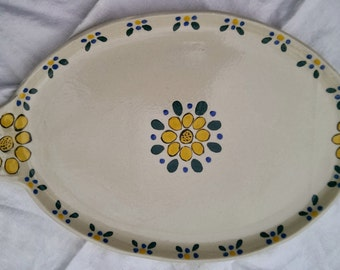 Large hand painted serving platter