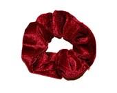 Velvet Scrunchie/ Velvet Scrunchie/ Maroon Scrunchie /Handmade Scrunchie /Gift Under 10