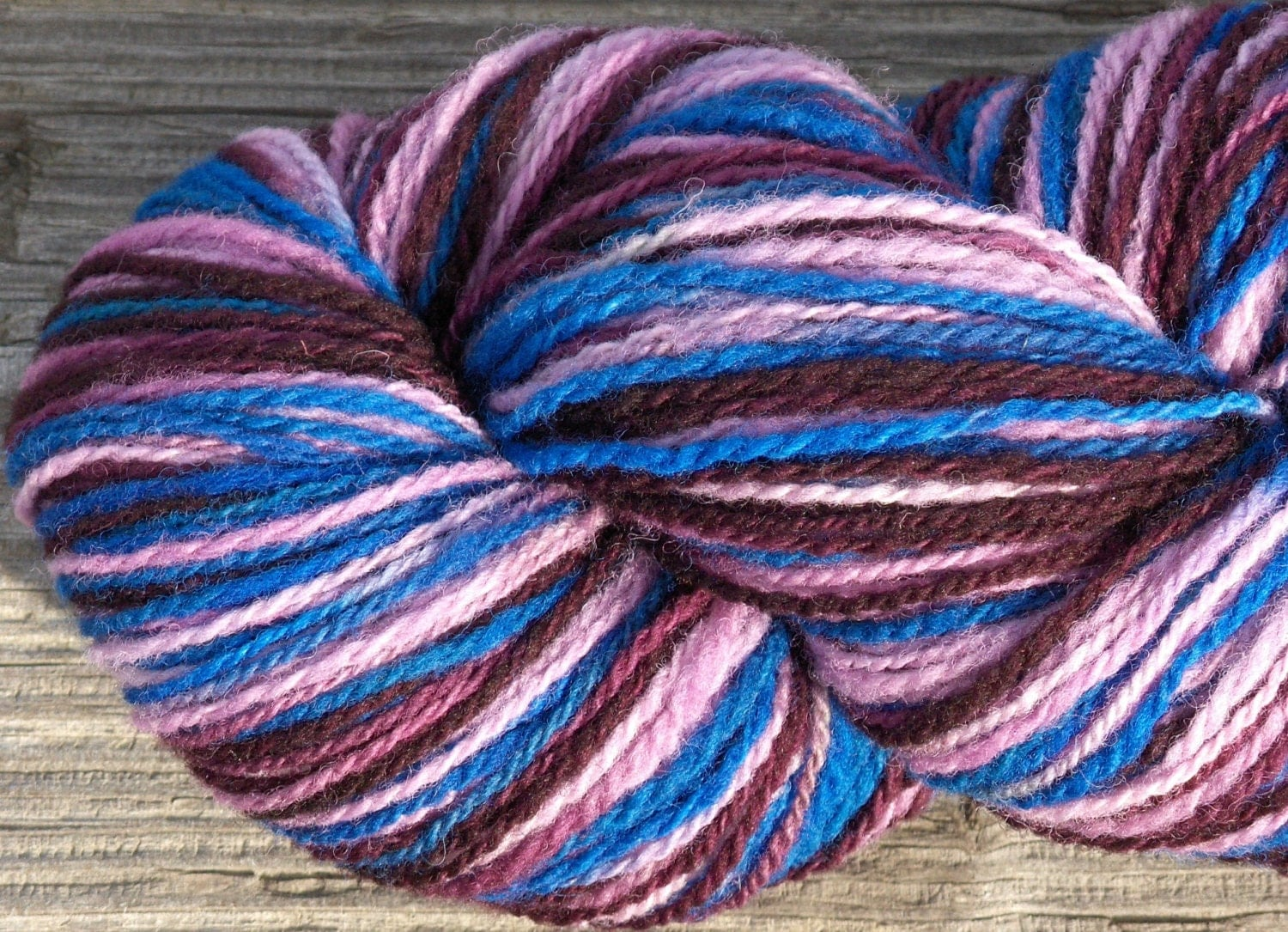 Worsted Weight Yarn : Worsted Weight Variegated Wool Yarn. Hand by PromisedLandFibers
