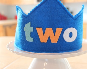TWO Birthday Crown