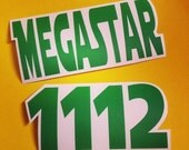 Custom Name and Number Derby Helmet Vinyl Sticker / Vinyl Decal