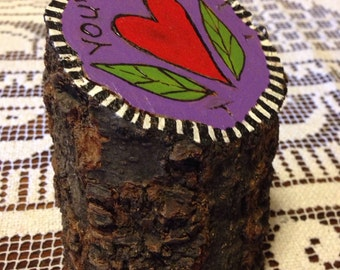 You've got heart – Tree stump art