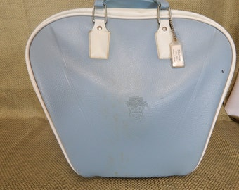 Vintage Stebco Bowling Bag Light Blue with White Trim