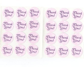 Thank You Envelope Seals Stickers (24) Package Decor / 1 Inch / (Set 5)