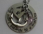 JBK My Heart Belongs to a Marine necklace