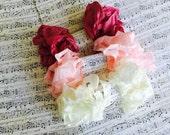 Crinkled Seam Binding Ribbon 15 Yards, Posie Pink, Light Pink, Light Beige, Pastel Spring