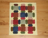 "Doll Quilt  Miniature Quilt  -  Stars 11"" x 14""  Wall Decor Table Topper Hand Quilted"
