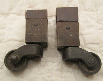 Antique set of Casters metal Wheels SALE