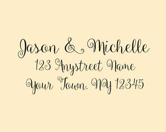 Personalized Self Inking Return Address Stamp - self inking address stamp - Custom Rubber Stamp R258