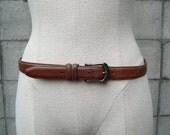 Coach Belt Leather Brown Vintage 1980s British Tan United States size 32