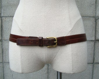 Coach Belt Leather Brown Vintage 1980s size 36