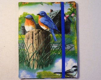 Kindle Cover Hardcover, Kindle Case, eReader, Kobo, Nook, Nexus 7, Kindle Fire HDX, Kindle Paperwhite, Blue Birds