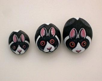 Terrarium fairy garden kits-Holiday gifts-Miniature animal-Dutch Bunny Rabbit-painted rocks-faerie accessories-ooak art-keepsake collectible