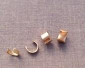 Gold Minimalist Ear Cuff. Hammered.14k Gold Filled. No piercing