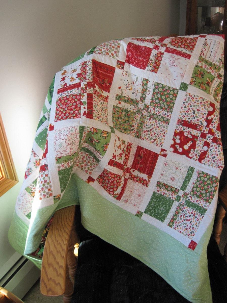 sale patchwork quilt lap quilt throw blanket holiday. Black Bedroom Furniture Sets. Home Design Ideas