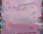 Pink Art, Contemporary Modern Original Painting, 24x36 inches. pink. Art, Modern Art