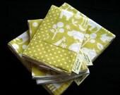 Citron Animals - Receiving Blanket and Burp Cloths
