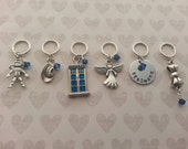 Doctor Who Inspired 11th Doctor Stitch Markers for Knit or Crochet - Snagless