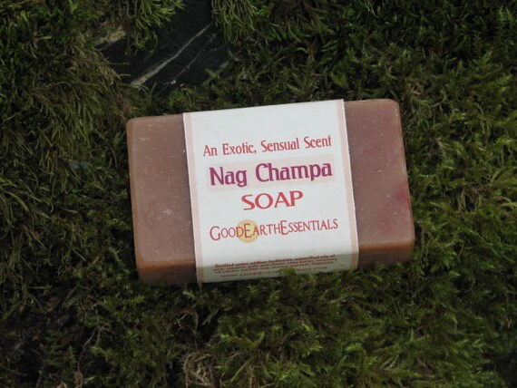 NAG CHAMPA aromatic bath soap, rich with skin softening shea butter
