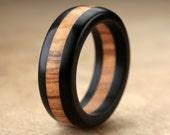 Ebony Olive Wood Ring - 8mm
