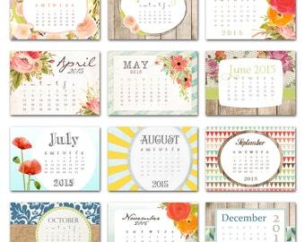 Popular items for desktop calendar on etsy - Desktop calendar design ideas ...