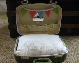Tiny  Suitcase Dog Bed