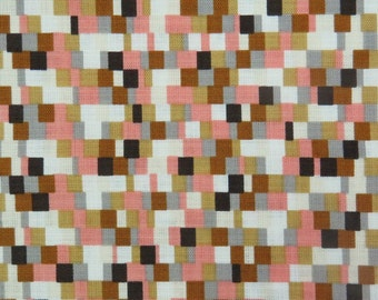 2515A - Mosaic Fabric in Brown and Pink Combo
