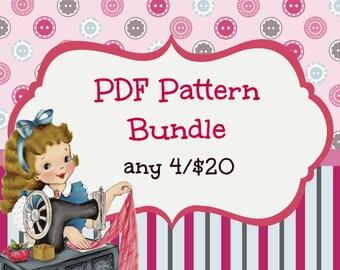 PDF Sewing Pattern or Tutorial Bundle ... Pick any 4