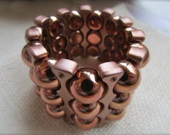 Unique retro copper colored vintage bracelet